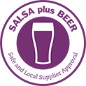 Safe And Local Supplier Approval (SALSA) Plus Beer Logo