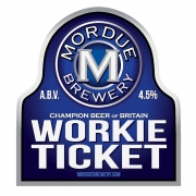Workie Ticket 4.5% by Mordue Brewery