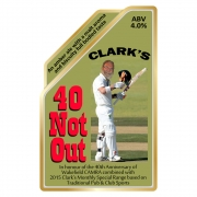 40 Not Out 4.0% by H.B. Clark