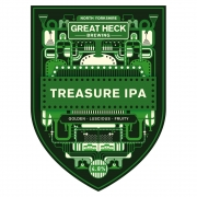 Treasure IPA 4.8% by Great Heck Brewing