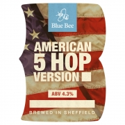 American 5 Hop 4.3% by Blue Bee Brewery