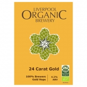 24 Carrot Gold 4.2% by Liverpool Organic Brewery