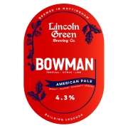 Bowman 4.3% by Lincoln Green Brewery
