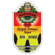 Simple Simons Stout 4.5% by Muirhouse Brewery