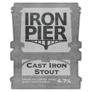 Cast Iron Stout 4.7% by Iron Pier