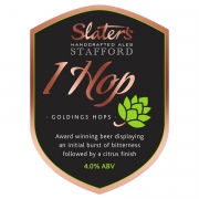 One Hop 4.0% by Slaters Brewery