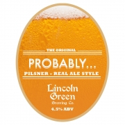 Probably 4.5% by Lincoln Green Brewery
